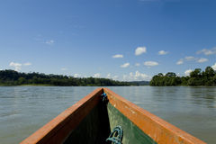 Boat and river in the Amazon Stock Images