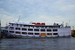Boat in River Amazonas, Manaus royalty free stock image