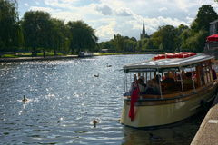 Boat on River Avon. Stratford Upon Avon UK Stock Images