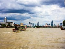 The boat. On river in Bangkok Stock Images