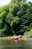 Boat on the River Dee. Royalty Free Stock Photography
