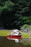 Boat on River Dee, Chester. Royalty Free Stock Photo