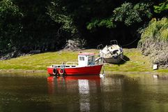 Boat on River Dee, Chester. Royalty Free Stock Image