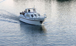Boat on the River Havel in Germany Royalty Free Stock Photo