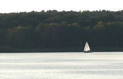 Boat on the River Havel in Germany Royalty Free Stock Photography