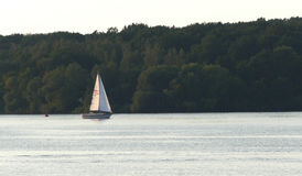Boat on the River Havel in Germany Royalty Free Stock Photos