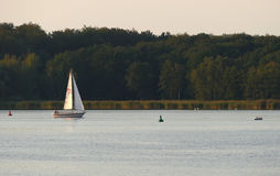 Boat on the River Havel in Germany Stock Photos