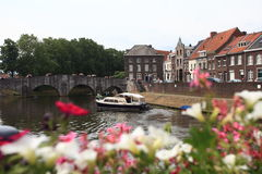 Boat on the river at Holand Stock Image
