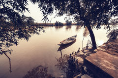Boat on river Royalty Free Stock Images