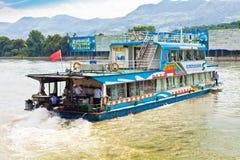 Boat on river li Guilin China stock photo
