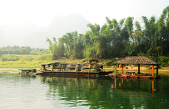 Boat on the river Li in  Guilin Yangshou China Royalty Free Stock Photography