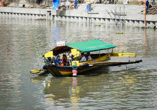 A boat on the river in Manila, Philippines Stock Photo