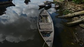 A boat on the river Mekong stock video footage