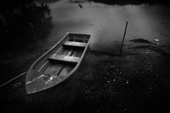 Boat and the river in the night Royalty Free Stock Photography