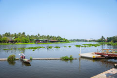 Boat in river, Rayong, Thailand Royalty Free Stock Photo