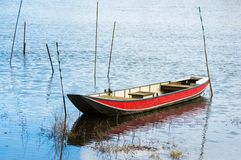 Boat on a river Stock Photography