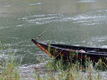 Boat At River's Edge Royalty Free Stock Photography