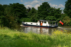 Boat on the river Thames. A nice photo of boat on the Thames river near Windsor castle Stock Photos