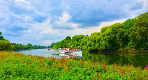 Boat on the River Thames at Richmond Royalty Free Stock Photo