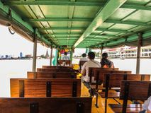 Boat on river. Transportation by boat in Bangkok, Thailand Royalty Free Stock Images