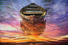 Boat on the river. Royalty Free Stock Photography