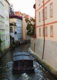 Boat on river Vltava Royalty Free Stock Photo
