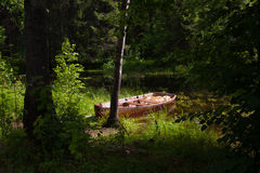 Boat by the river Stock Photography