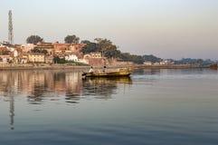 Boat in the river Stock Image