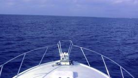Boat Rocking In Big Seas stock footage