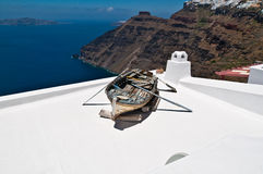 Boat on the Roof Royalty Free Stock Image