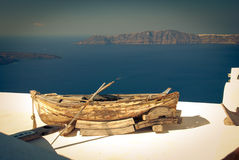Boat on a roof Royalty Free Stock Photos