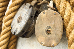 Boat rope. Closeup of the boat rope Stock Image