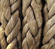 Boat rope closeup. Nautical background. Royalty Free Stock Photography