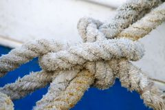 Boat rope. Detail of the boat rope Royalty Free Stock Photos