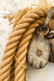 Boat rope. Detail of the boat rope Royalty Free Stock Images