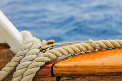 Boat rope detailed, close up shot. Royalty Free Stock Photos