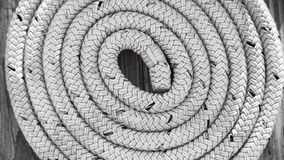 Boat rope on Dock Black & White Royalty Free Stock Photography