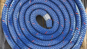 Boat rope on dock in Va. Stock Photography