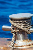 Boat Rope with Knot Stock Photography
