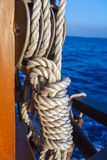 Boat Rope with Knot Stock Images