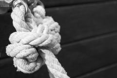 Boat rope knot Stock Photography