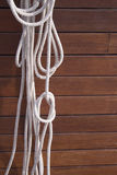 Boat rope knot Stock Photo