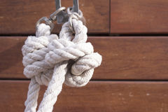Boat rope knot Stock Photos