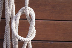 Boat rope knot Royalty Free Stock Images