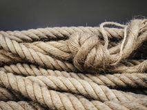 Boat Rope with knot Textured Royalty Free Stock Images