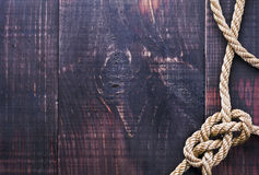 Boat Rope On Dock Royalty Free Stock Image