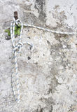 Boat rope on stone wall Stock Photography