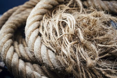 Boat Rope Textured close up stock images