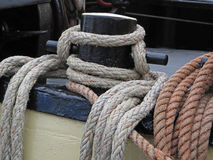 Boat Rope Tie Down Royalty Free Stock Images