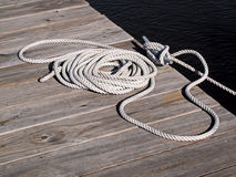 Boat Rope Tie Down Royalty Free Stock Photo